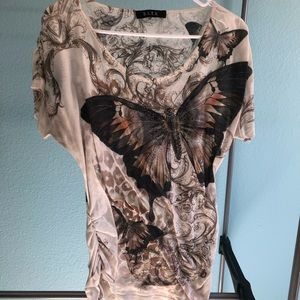 Wonderful butterfly themed top